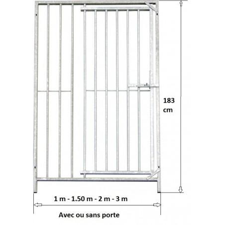 Panneau de chenil: 1 m avec porte