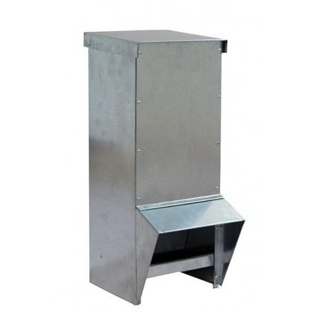 Mangeoire volaille en acier galvanisé pour 18 kg