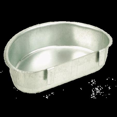 Abreuvoir ou mangeoire demi-lune en acier galvanisé