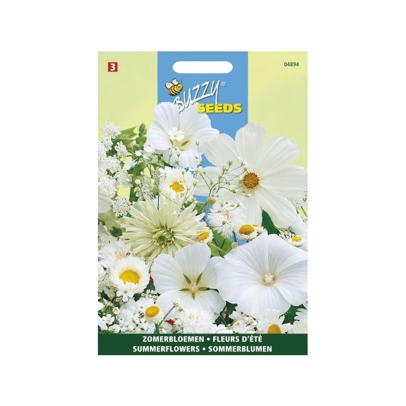 m lange de fleurs d 39 t blanches la belle caille de bl. Black Bedroom Furniture Sets. Home Design Ideas
