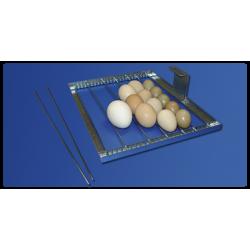 Grille Tourne œufs par inserts réglable de type universel :  Le retournement automatique des œufs.