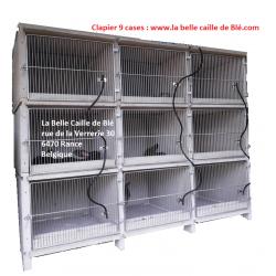 clapier en béton 9 cases