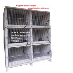 clapier béton 6 cases