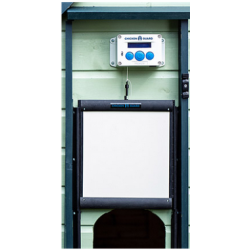 porte automatique chikengard avec porte autobloquante