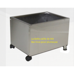Bac inox pour plumeuse