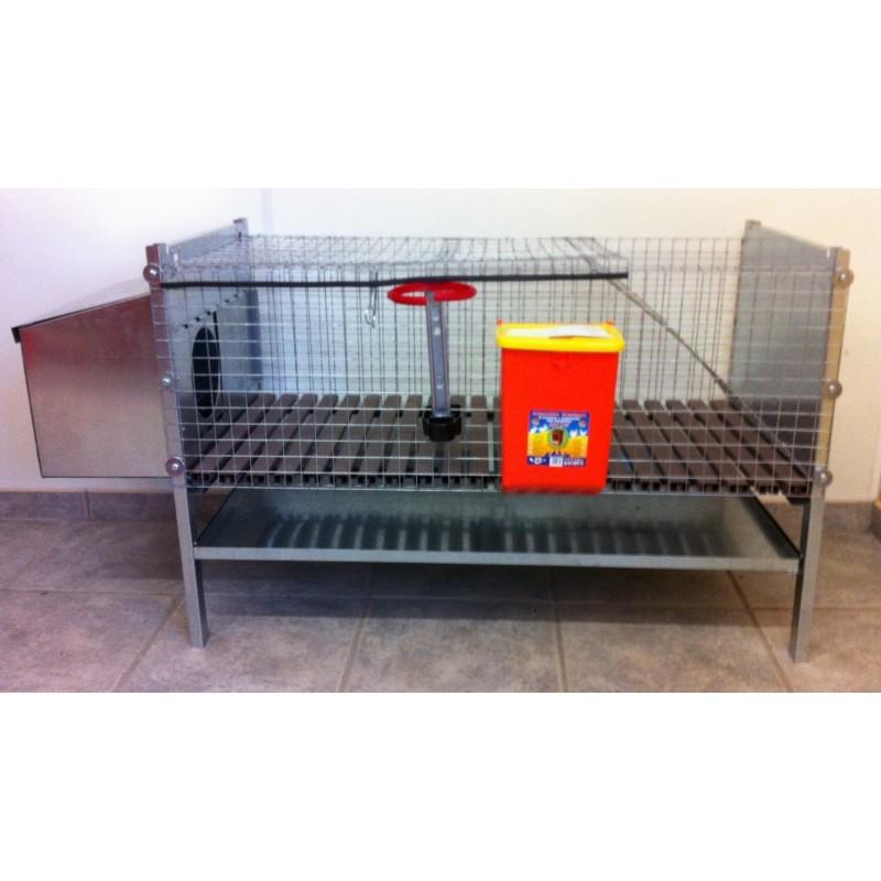 cage lapin en acier galvanisé. Fabrication européen
