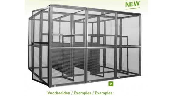 Volières et cages pour oiseaux